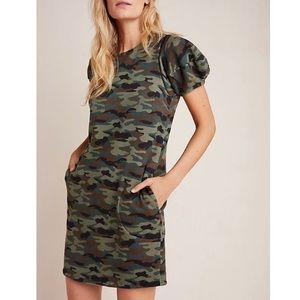 Anthropologie Camo Print Tunic Dress + Pockets, L